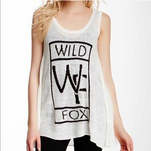 WILDFOX White Label Fancy Car Knit Sweater Tank